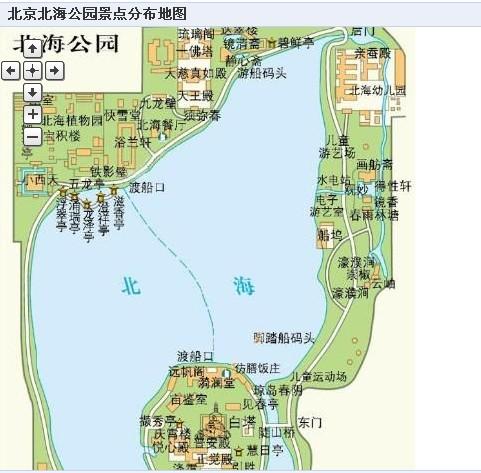 北海公园游玩路线_北海公园景点路线图